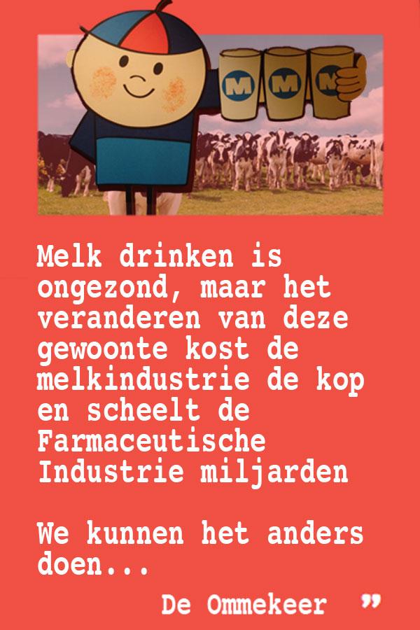 Melk drinken is niet gezond