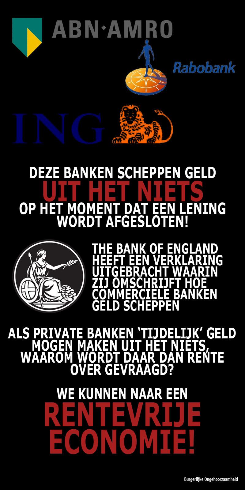 Commerciele Banken maken tijdelijk geld uit et niets