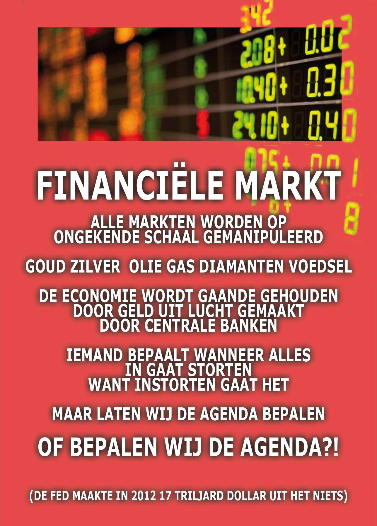 Financiele Markten worden allemaal gemanipuleerd