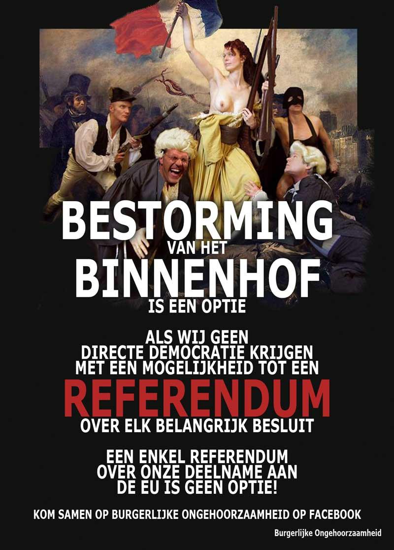 Bestorming Binnenhof als wij geen directe democratie krijgen