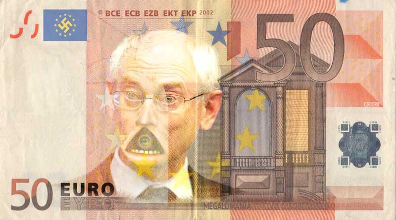 50 eurobiljet megalomaan van rompuy