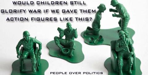 Plastic soldiers. Casualties of war