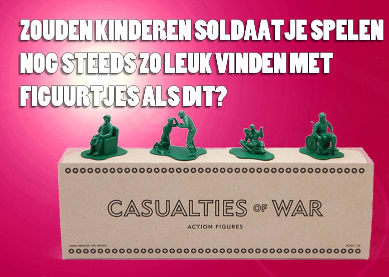 Plastic soldiers. Casualties of war