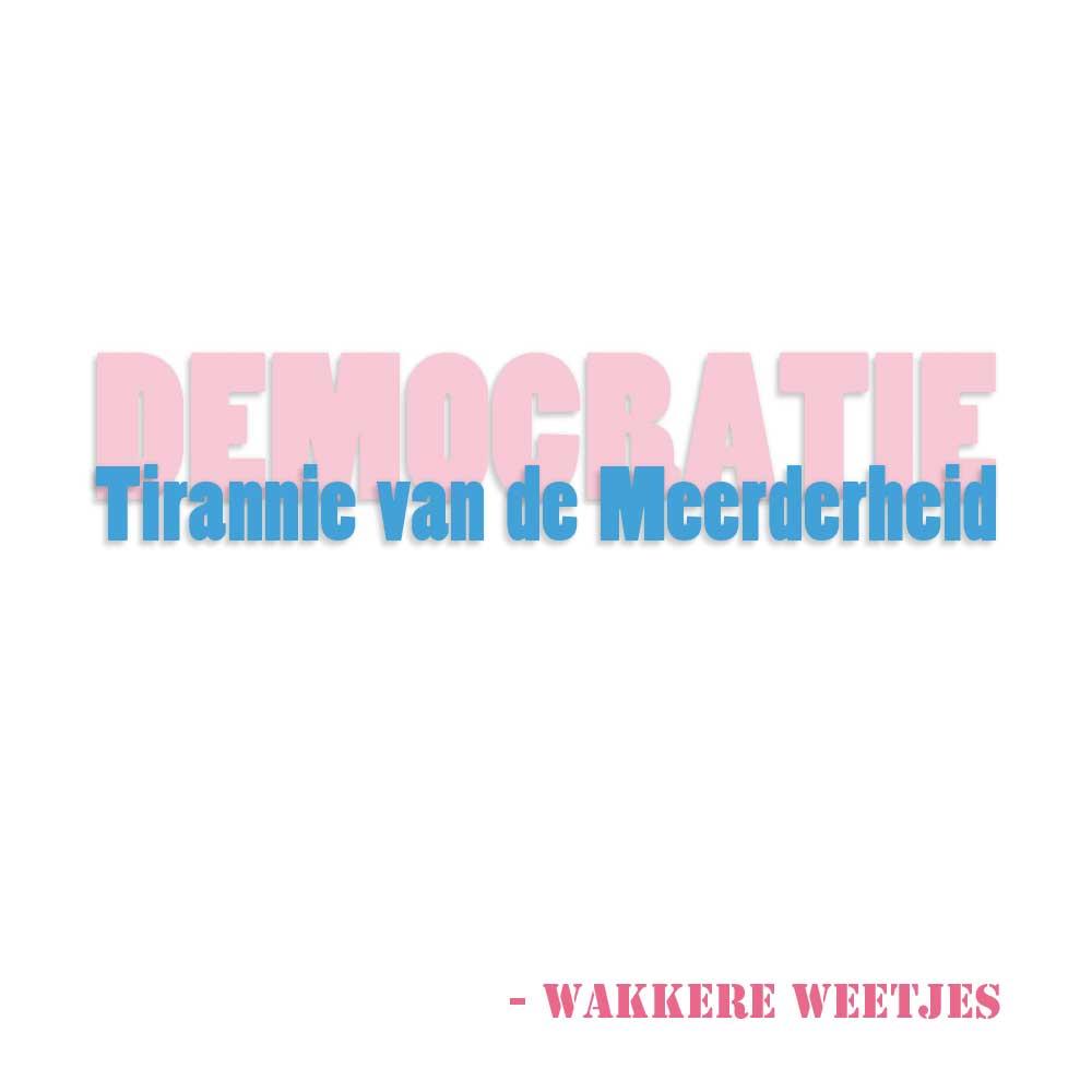 De democratie is de tirannie van de meerderheid. Burgerlijke Ongehoorzaamheid.