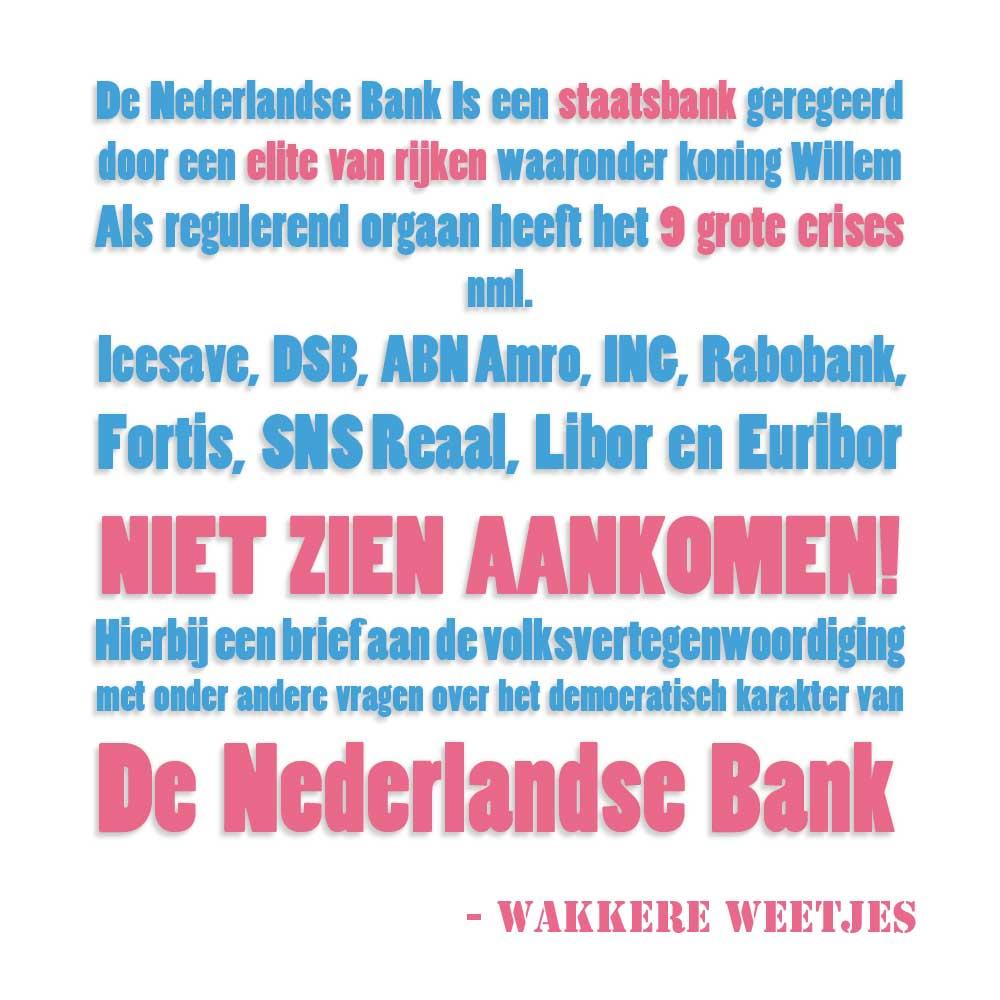 DNB hoofd bankenkartel. Burgerlijke Ongehoorzaamheid