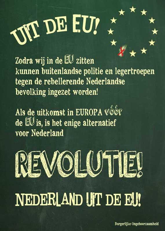 EU uit revolutie burgerlijke ongehoorzaamheid