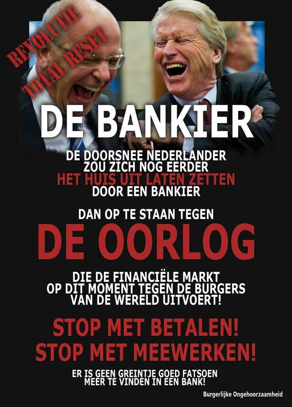Bankier oorlog financiële markt burgerlijke ongehoorzaamheid
