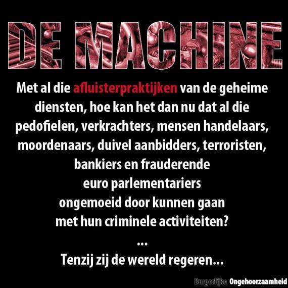 de machine burgerlijke ongehoorzaamheid