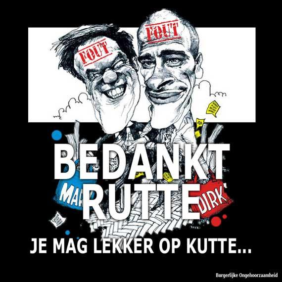 Mark Rutte burgerlijke ongehoorzaamheid