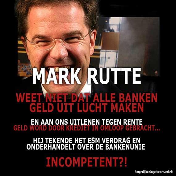 Mark Rutte fractioneel reserve bankieren burgerlijke