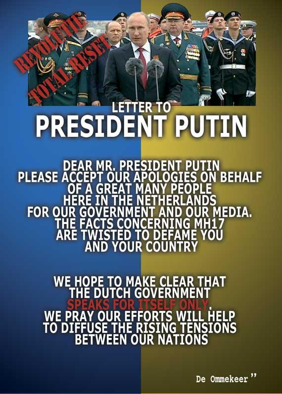Letter to President Putin. De ommekeer