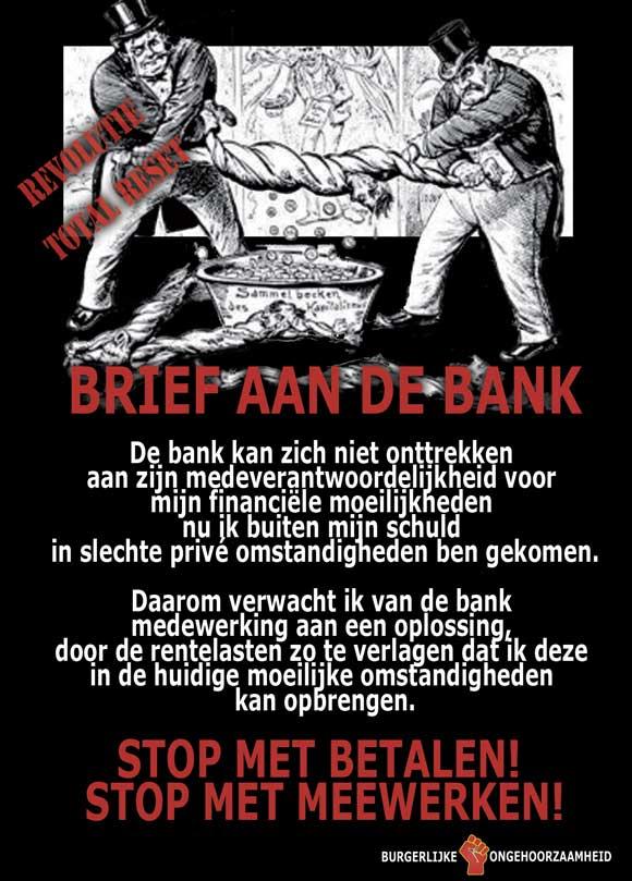 Brief aan de bank