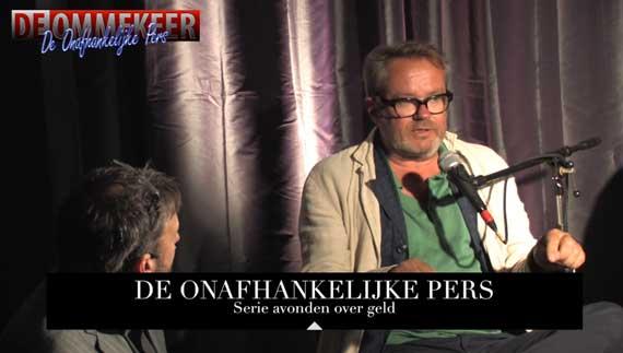 George van Houts en Luuk de Waal Malefijt in de Libertijn, Den Haag met de Onafhankelijke Pers