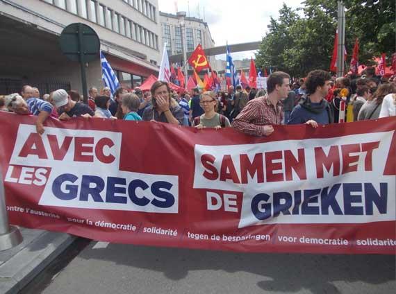 Samen met de Grieken. Nederland en België steunen de Grieken!