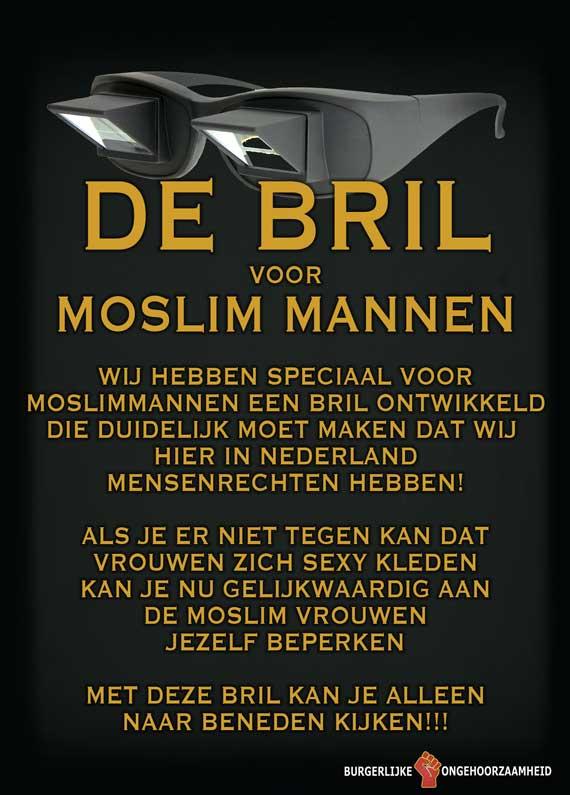 Gelijke rechten voor man en vrouw, de bril voor moslim mannen - Burgerlijke Ongehoorzaamheid