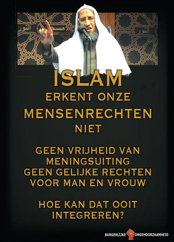 Islam erkent onze mensenrechten niet - Burgerlijke Ongehoorzaamheid