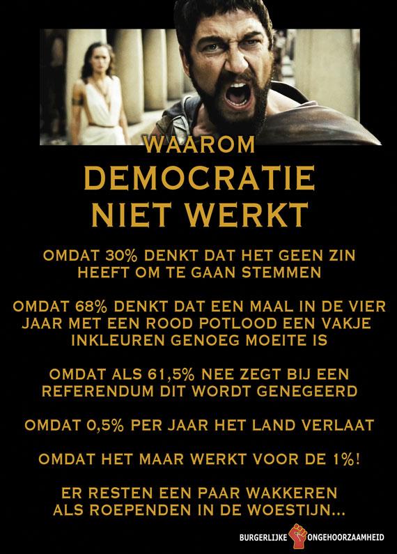 Democratie werkt niet meer. Burgerlijke Ongehoorzaamheid, de Ommekeer