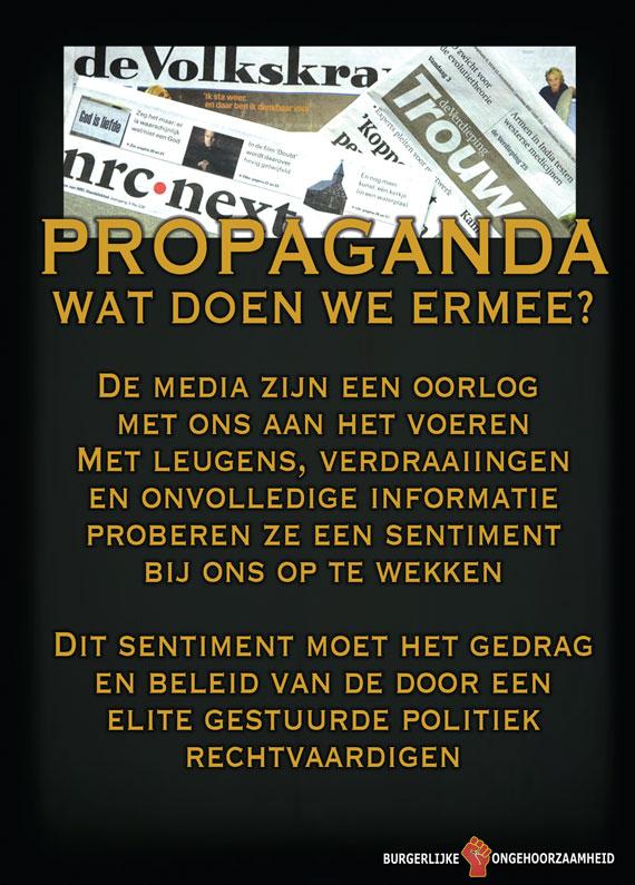 Propaganda van de pers. Burgerlijke Ongehoorzaamheid